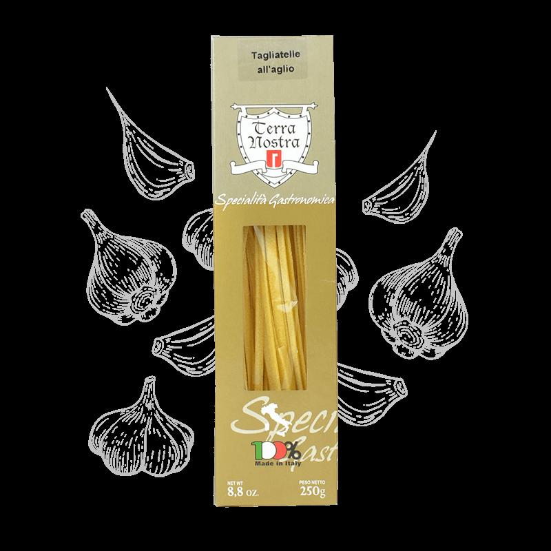 Tagliatelle all'Aglio Knoflook pasta